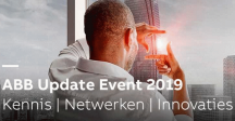 Motto van het ABB Update Event is 'Let's connect to the future'.'